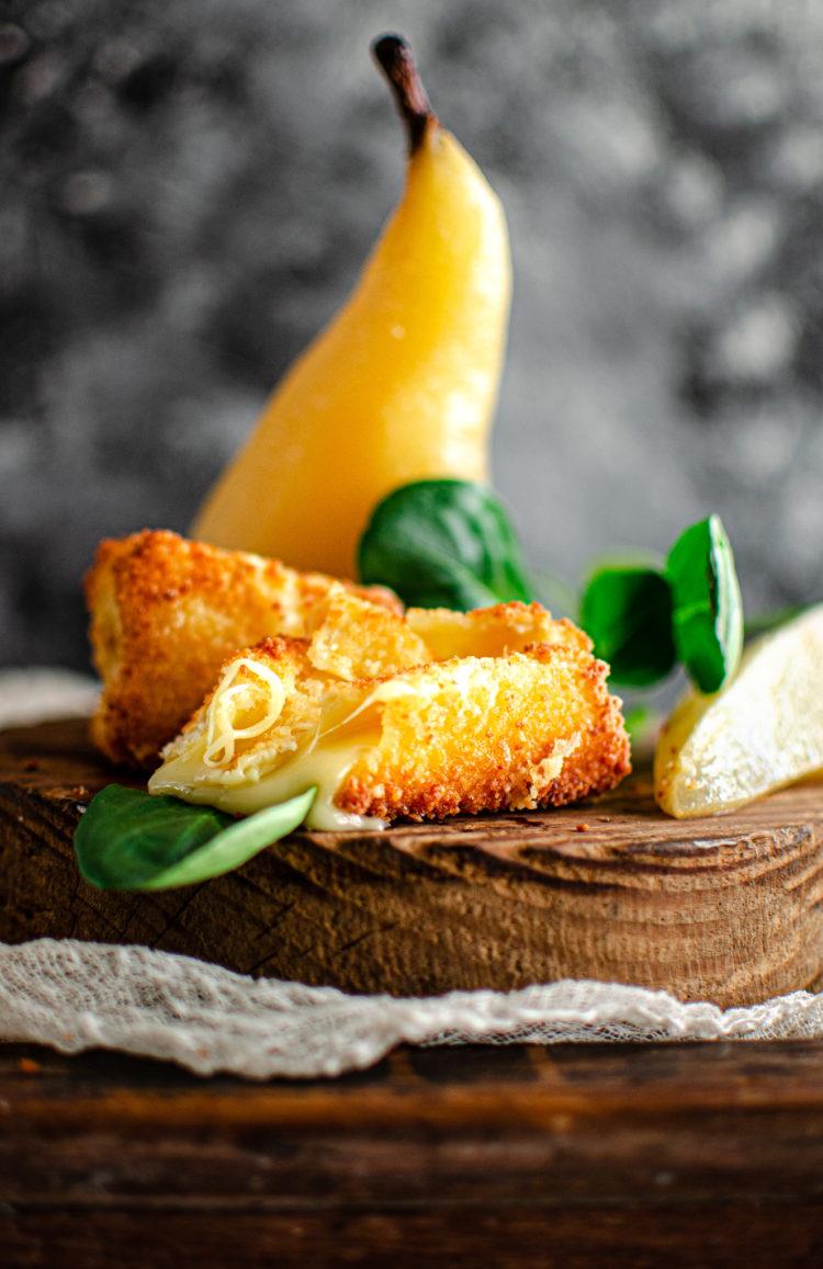 Lla force du fromage et la douceur de la poire