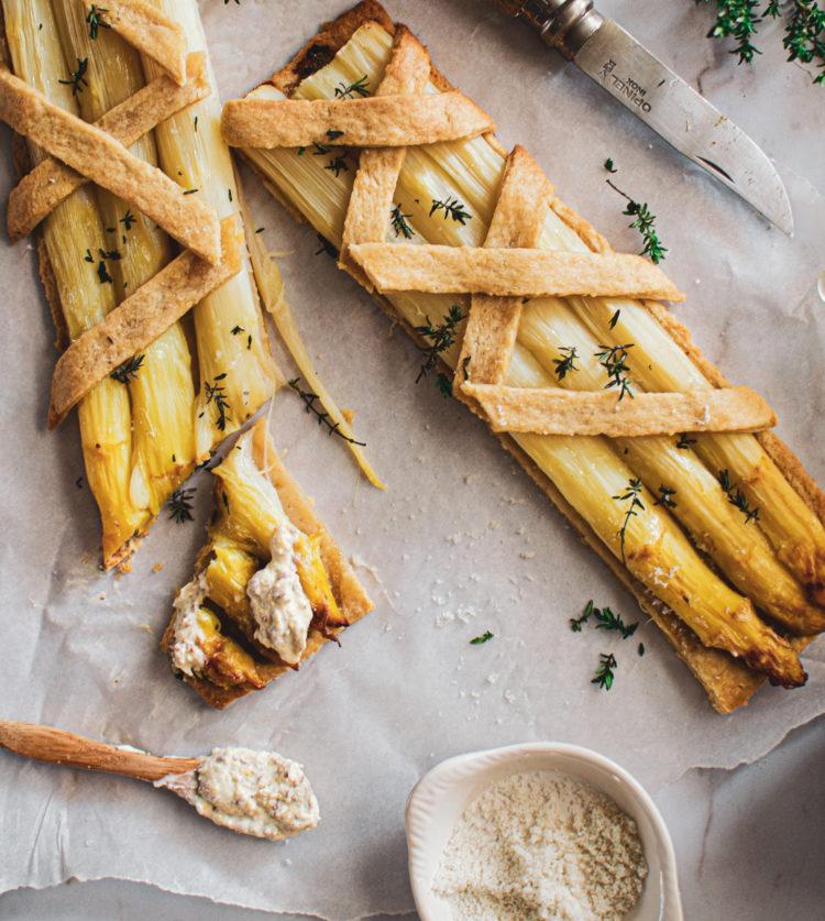 Une pâte croustillante et des asperges rôties, le bonheur!