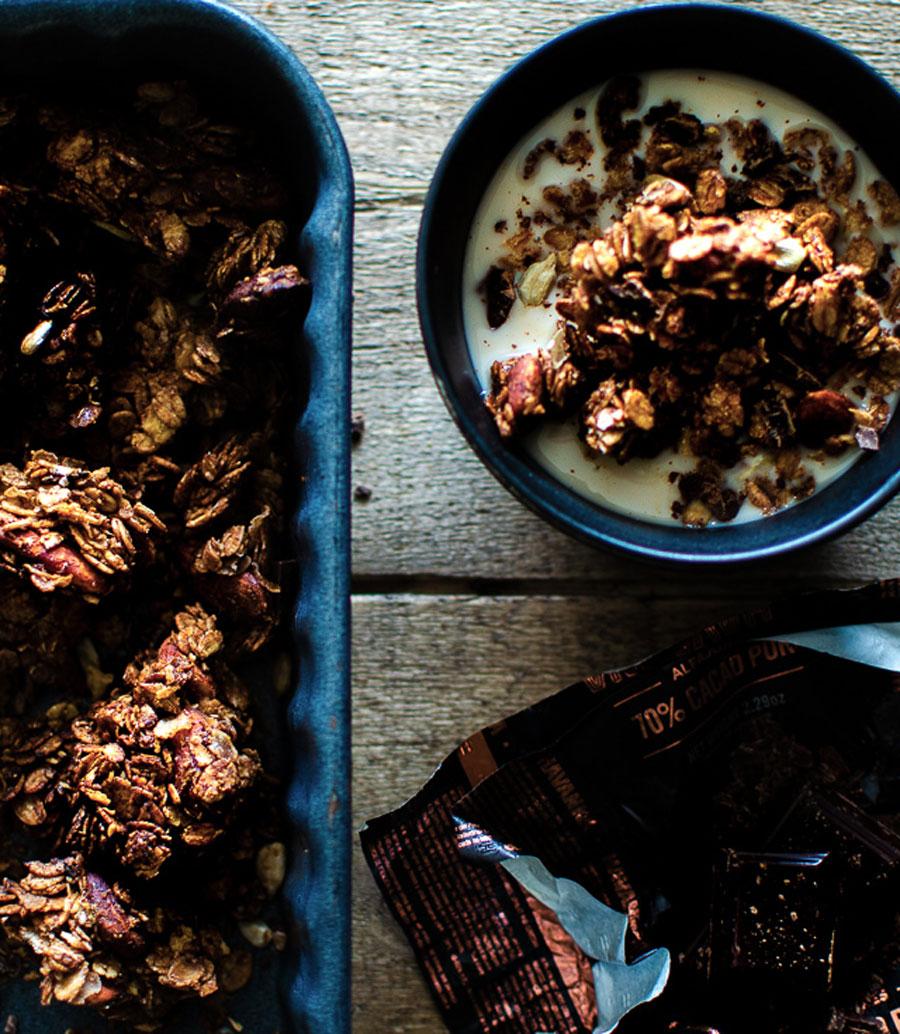 Granola chocolat et fleur de sel