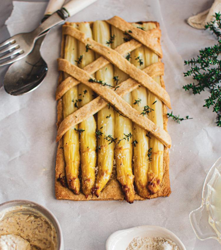Testez cette jolie tarte sans attendre la saison des asperges est trop courte !